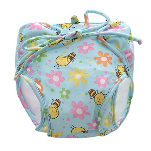 [Bee] Reuseable Baby Swim Diaper Lovely Infant Swim Nappy Swimwear
