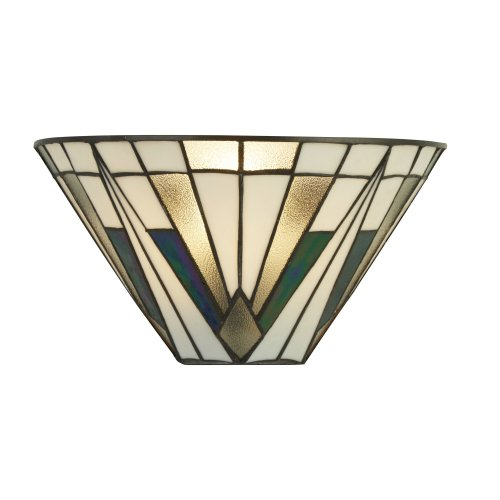 Searchlight Gatsby Tiffany Wall Light Bronze/Black/Clear/White/Multi