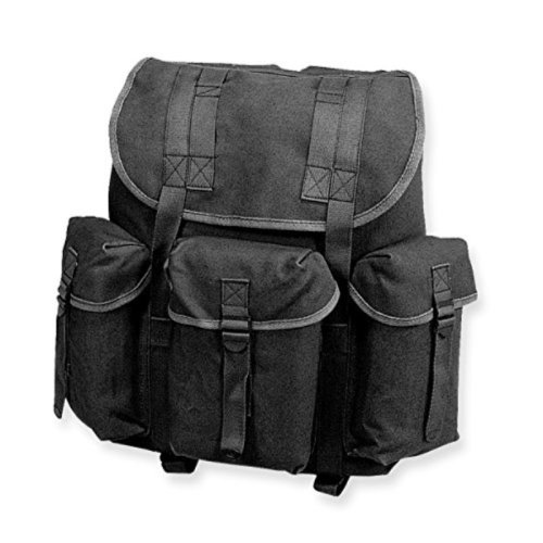 Stansport Cotton G.I Rucksack (Black)