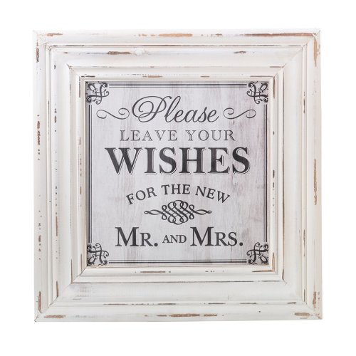 Wishes Square Sign White