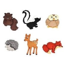 Forest Babies - Novelty Craft Buttons & Embellishments by Dress It Up