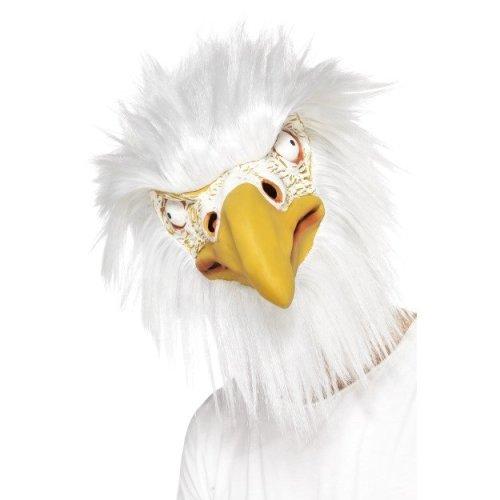 Smiffy's 39521 Eagle Full Overhead Mask (one Size) -  overhead eagle mask full fancy dress adults bird animal masks accessory smiffys white face