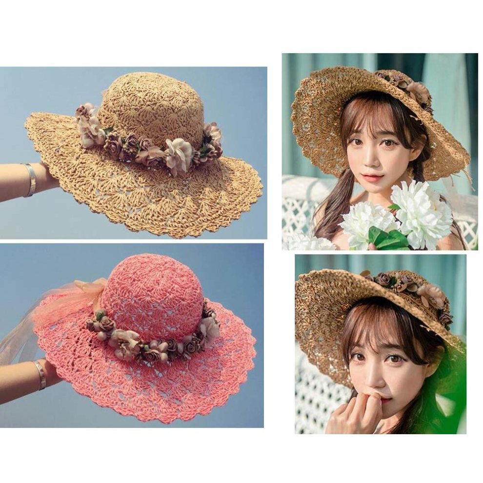 a5afcfb415941 ... Hollow Design Straw Hat Beach Lady Hat Fashion Visor Sun Hat - 1.