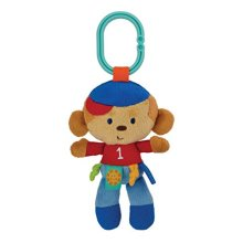 Label Loveys On-The-Go Stroller Toys, Monkey Sports