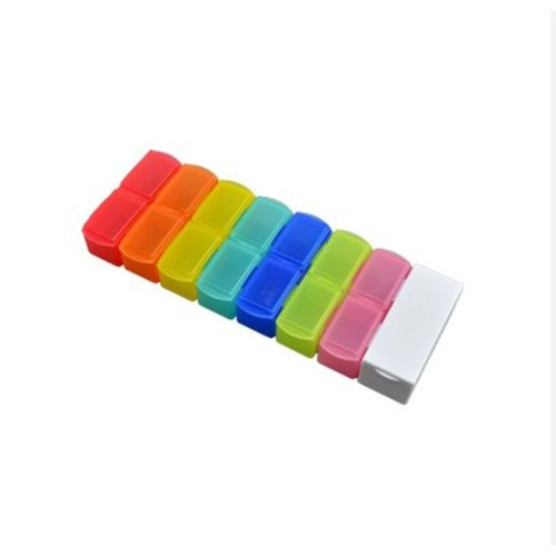 7-Day Rainbow Portable Pill Box/ Knife