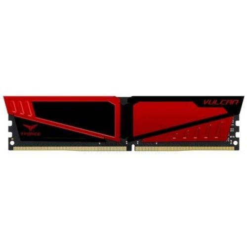 Team Vulcan 16Gb Red Heatsink 1 X 16Gb Ddr4 2666Mhz Dimm System Memory TLRED416G2666HC15B01