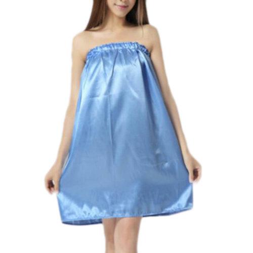 High-grade Thin Salon Bathrobe Bath Skirt Strapless Smooth Bathing Dress-A02