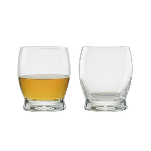 Manhattan Whisky Glasses, Set of 2, Transparent