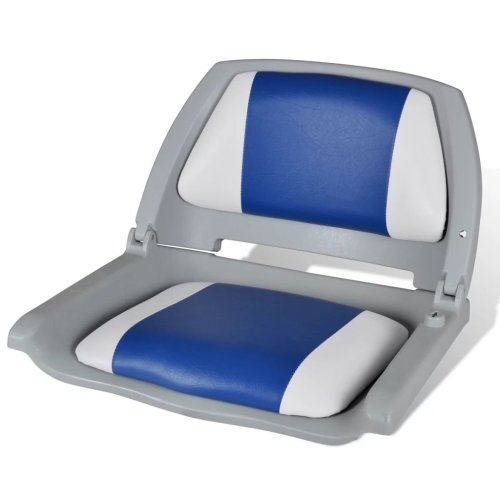 vidaXL Boat Seat Foldable Backrest with Pillow 41x51x48cm Sailing Accessory