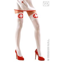 Thigh Highs Nurse Accessory For Sexy Lingerie Stockings Fancy Dress -  nurse sexy thigh highs fancy dress knee hold ups ladies over socks white