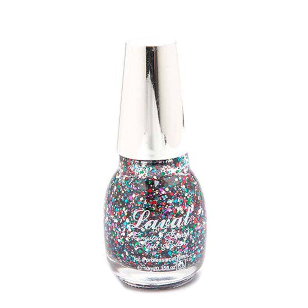 Glitter Nail Polish Buy: Laval Crystal Finish Multi Glitter Nail Polish On OnBuy