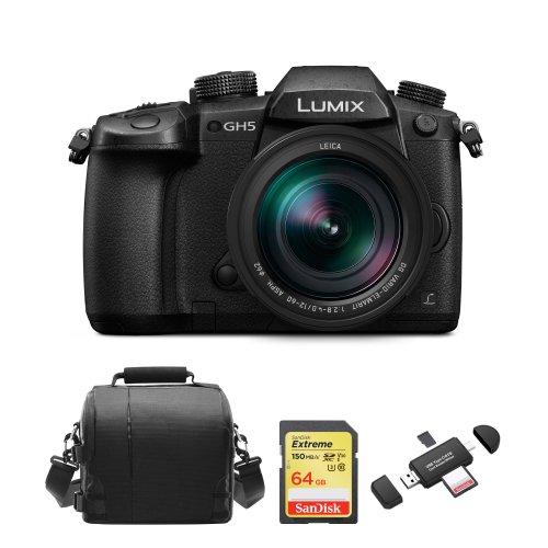 PANASONIC DMC-GH5 Black KIT 12-60mm Black+64GB SD card+Bag+Card Reader