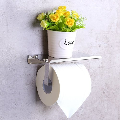 44b019c09493d4 Candora® Toilet Paper Holder Wall Mounted Bathroom Toilet Paper Holder  Rack Tissue Roll Stand Stainless Steel with Moblie Phone Holder Stand on  OnBuy