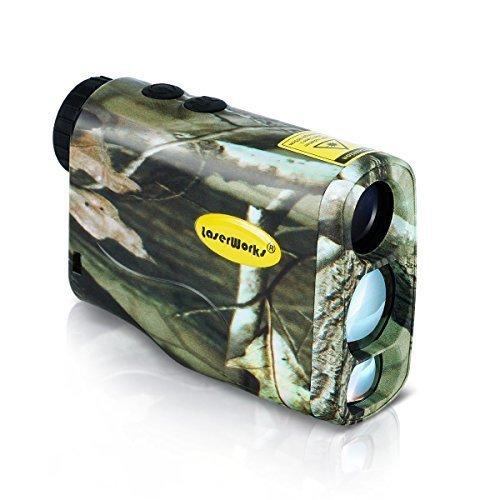 LaserWorks 600m Solar Power Laser Rangefinder for Hunting Golf Fog Measurement Waterproof Camouflage