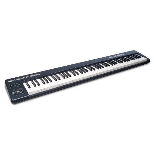 M-Audio Keystation 88 II, Portable 88-Key USB/MIDI Keyboard Controller with Synth-Action Velocity-Sensitive Keys and Studio Software from Sonivox...
