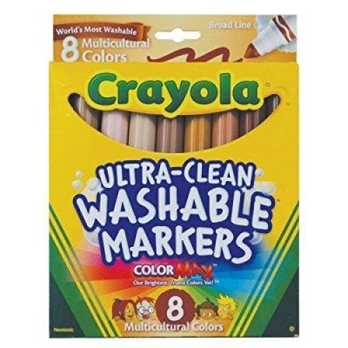 Crayola; Multicultural Colors; Broad Line Washable Markers; Art Tools; 8 Ct.