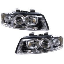 Audi A4 B6 2001-2004 Headlights Headlamps 1 Pair O/s & N/s Not Cabriolet