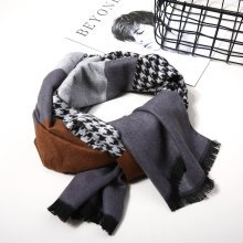 Men Winter Business Warm Plaid Scarf