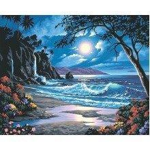 Dpw91185 - Paintsworks Paint by Numbers - Moonlit Paradise