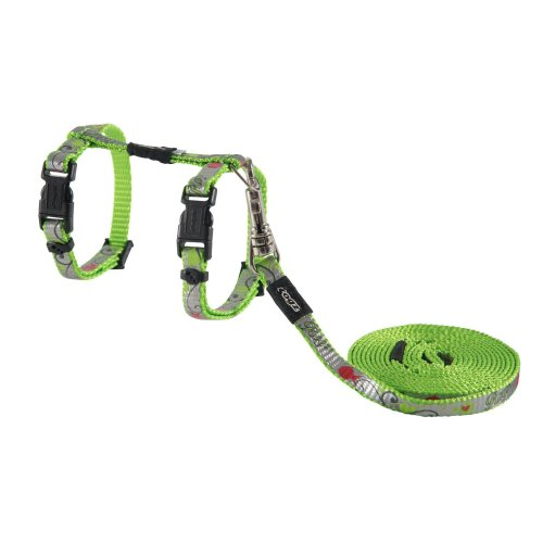 Rogz Catz Reflectocat Lead & Harness Extra Small Lime