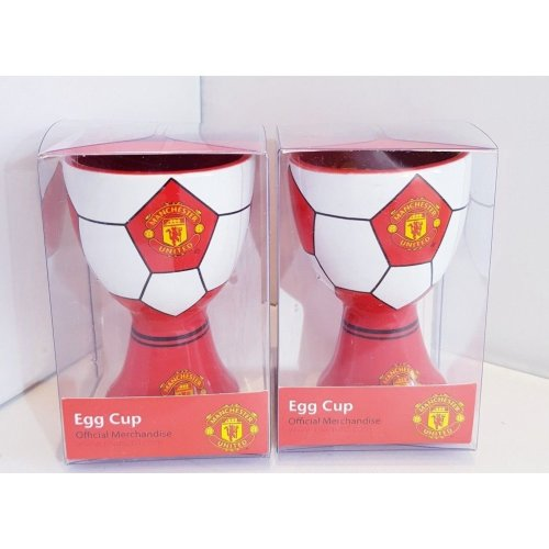 2 x Manchester United Football Egg Cups - Man United Egg Cups