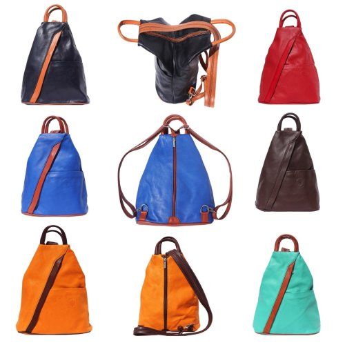 243ebdac38c232 Italian Leather Backpack Shoulder Bag Handcrafted In Florence Italy on OnBuy
