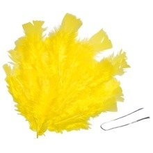 Pbx2470042 - Playbox - Easter Feathers with Wire (yellow) - 48 Pcs
