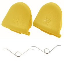 ZedLabz L2 R2 trigger button & spring set for Sony PS4 controller - yellow