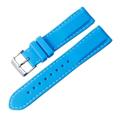 Soft Silicone Watch Wrist Replacement 22MM Comfortable Watch Strap Watch Band