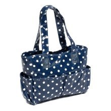 HobbyGift PVC Crafter's Craft Tote Bag - Navy Spot