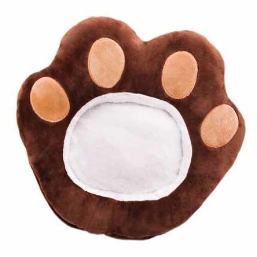 Multi-use Plush Glove Winter Phone Companion Washable Hand Warmer For Home And Office #Dark Bear Paw