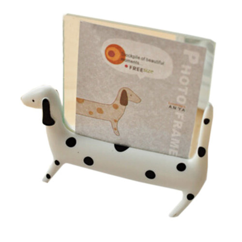 """Creative Lovely Spotty Dog Decor Recycle Table-top Photo Frames 4"""" WHITE"""