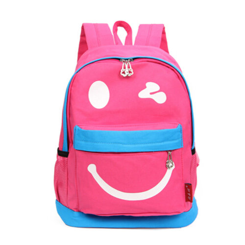 Smiling Face Little Kid Backpack Kids Boys Girls Backpack,pink