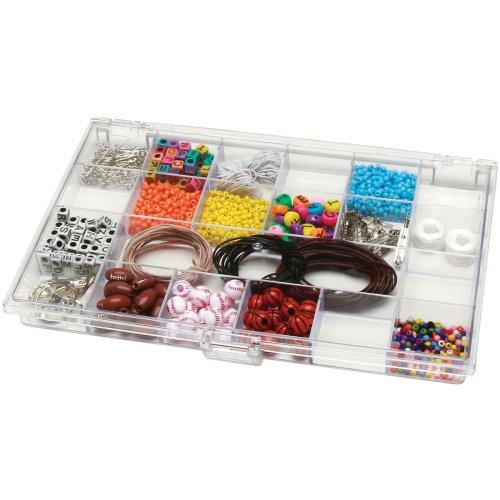 "Plastic Storage Box 10.5""X6.5""X.875""-21 Compartments"