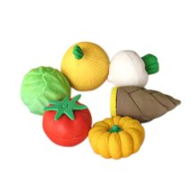 3 Sets Of Creative Cute Cartoon Erasers Vegetables Modeling