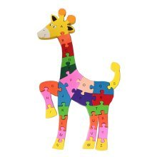 Funny Digital & Letter Wooden Blocks Puzzles Educational Puzzle Deer