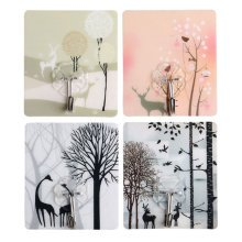 Forest Pattern Wall Hooks for Bathroom Kitchen 12Pcs