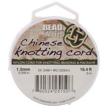 Chinese Knotting Cord 1.5mmX16.4'-Dark Siam