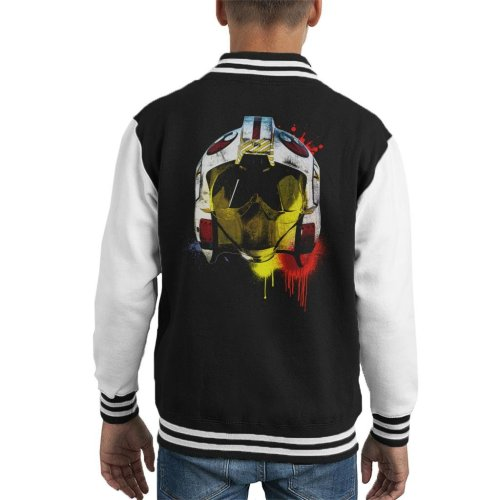 Original Stormtrooper Rebel Pilot Helmet Paint Splatter Kid's Varsity Jacket