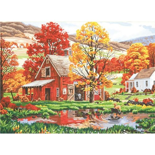 "Dpw91475 - Paintsworks Paint by Numbers 20"" X 14"" - Friends of Autumn"