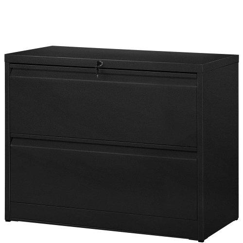 2 Drawer Metal Storage Cabinet Black IMANDRA