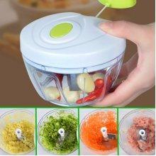 Manual Pull Rope Food Vegetable Blender Chopper Hand Held Pulling Slicer Mincer