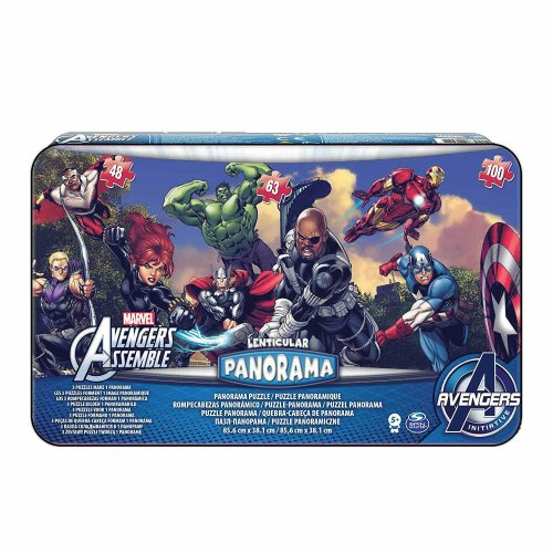 Spin Master Games Avengers 3 Puzzle Panorama Tin