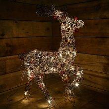 Twig & Berry Reindeer Indoor Mains Powered Christmas Figurine 70cm