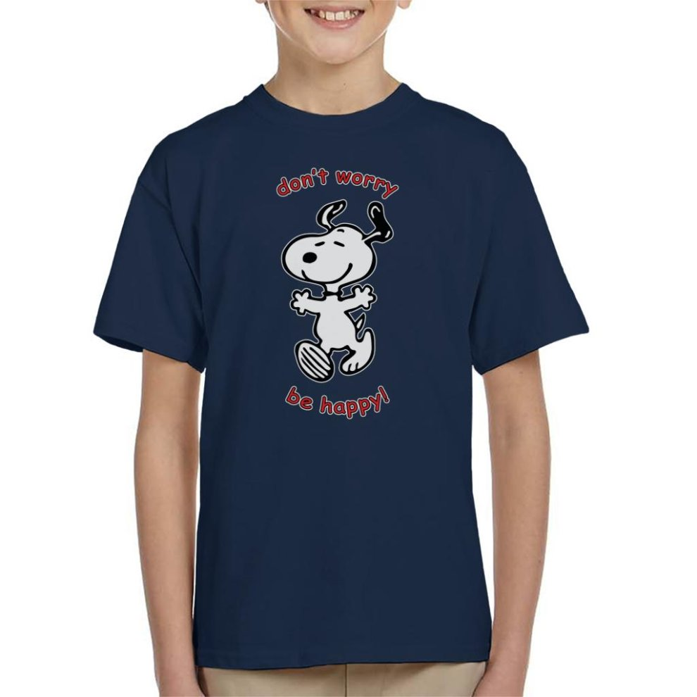 ab7a43d5e Snoopy Dont Worry Be Happy Kid's T-Shirt on OnBuy