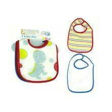 First Steps Pack Of 3 Cotton Bibs Perfect For Feeding Time