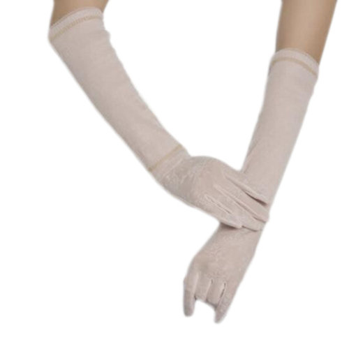 New Lace Outdoor Sunscreen Clothing Women Gloves Breathable Thin Sun Protective Sleeves-Pink