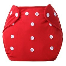 Set of 2 Cotton Diaper Pants Diapers Leak Proof Breathable Waterproof Red