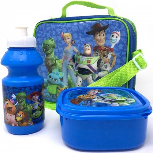 Disney Toy Story 4 3pc Lunch Bag with Shoulder Strap, Sports Bottle & Sandwich Container