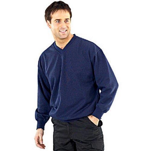Click CLVPCSNL V Neck Sweatshirt Navy Blue Large